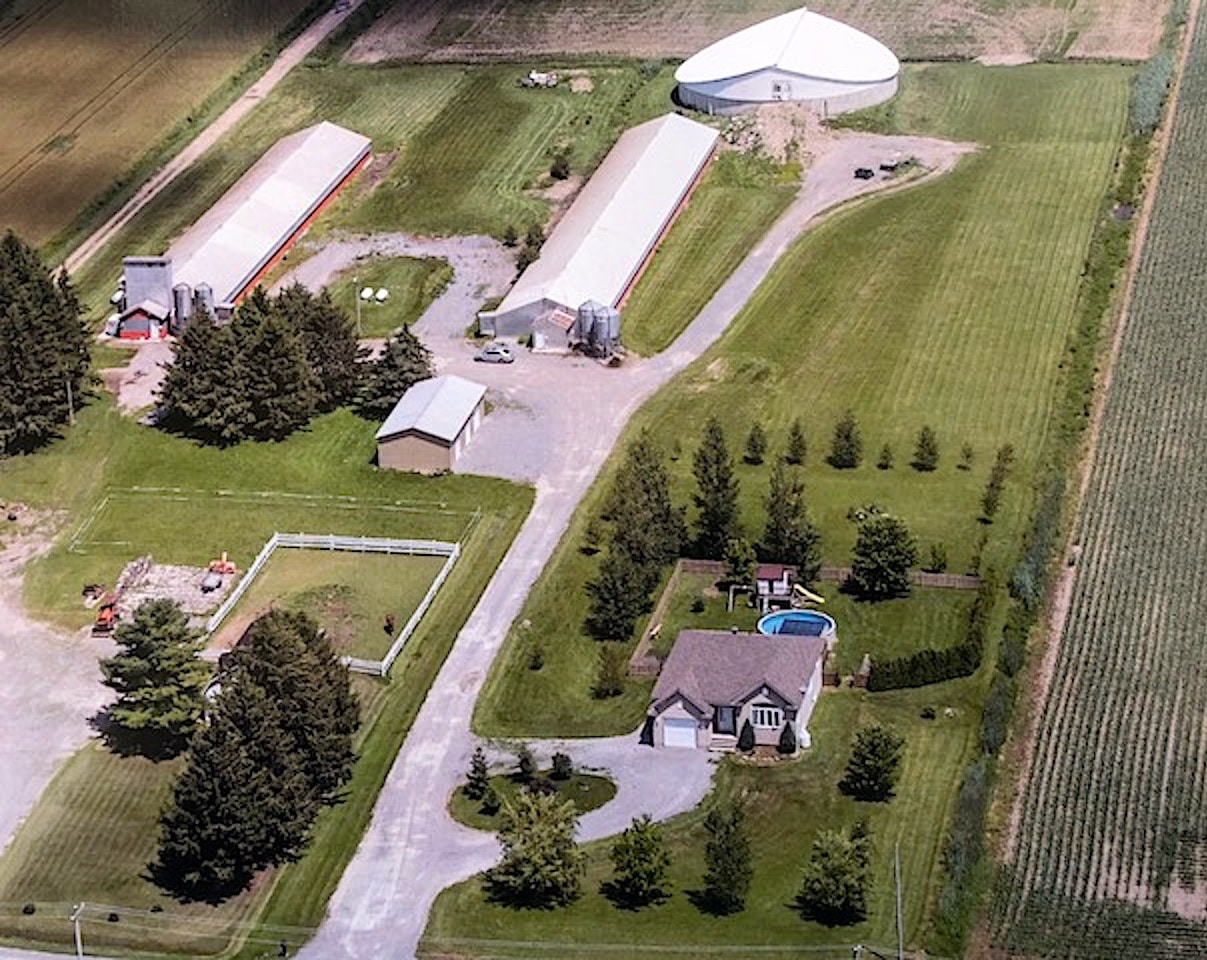 Modern hog farm well maintained with a residence